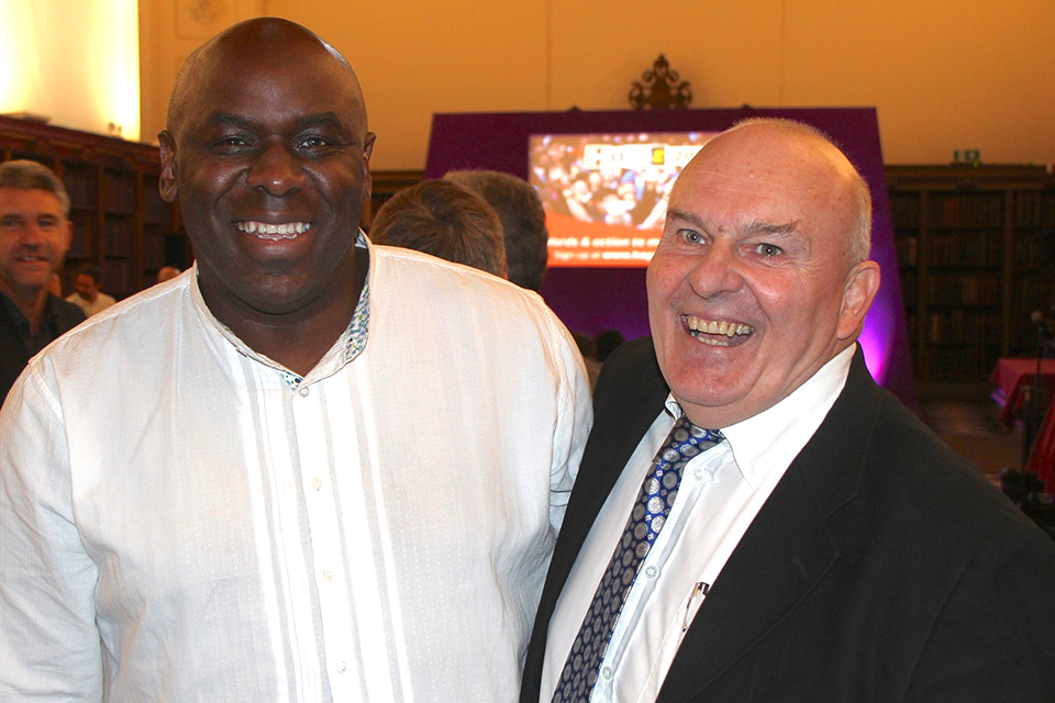 David Shosanya, London Baptist Association with Roy Crowne