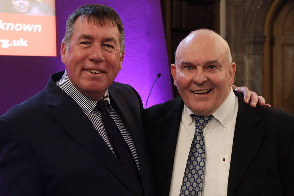 Ian Coffey, Moorlands Bible College, with Roy Crowne